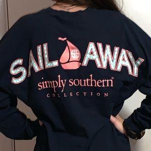 """Sail away"" simply southern long sleeve tee."